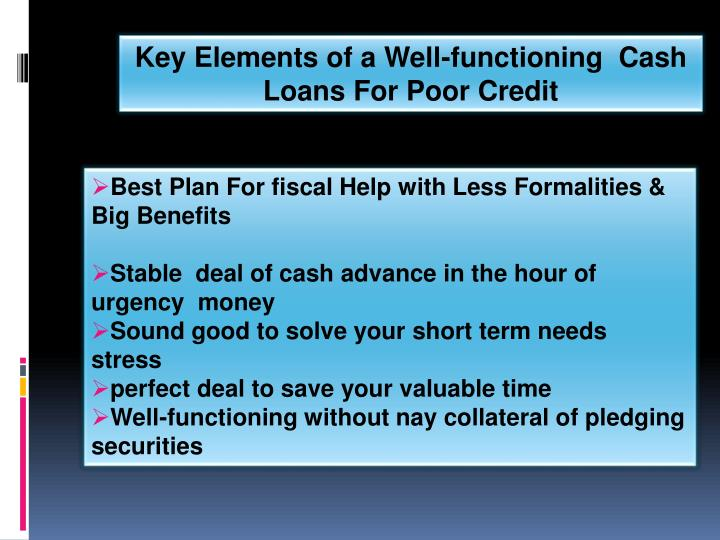 Key Elements of a Well-functioning