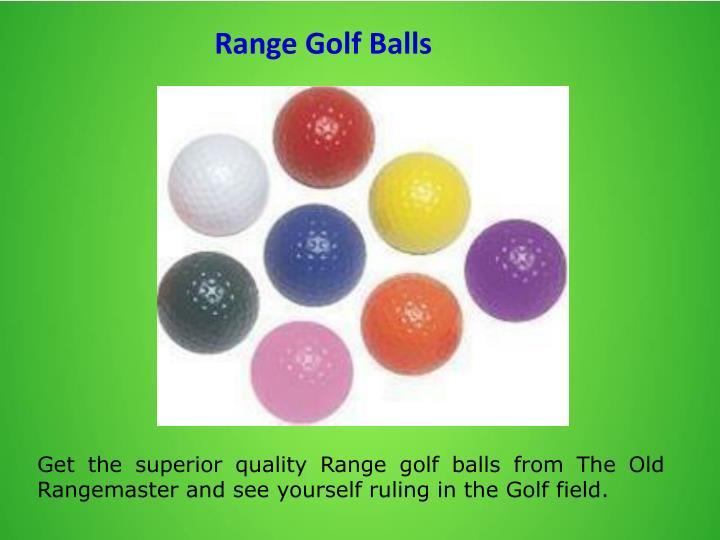 Range Golf Balls