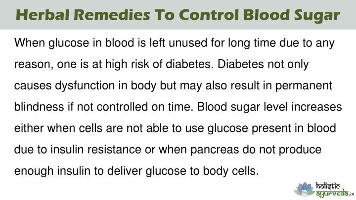 Herbal Remedies To Control Blood Sugar