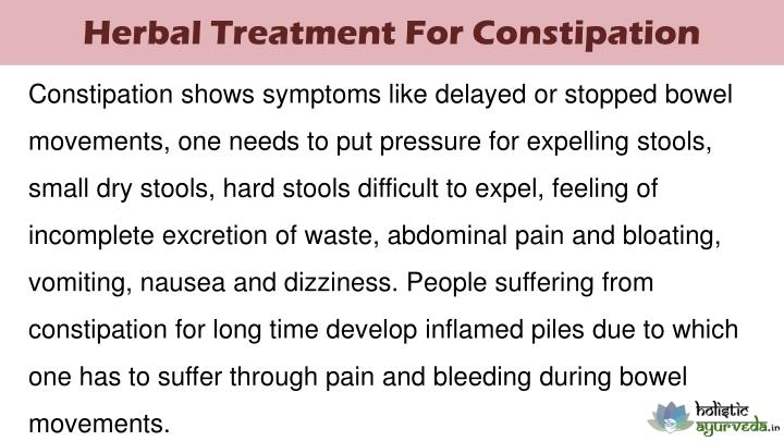 Herbal Treatment For Constipation