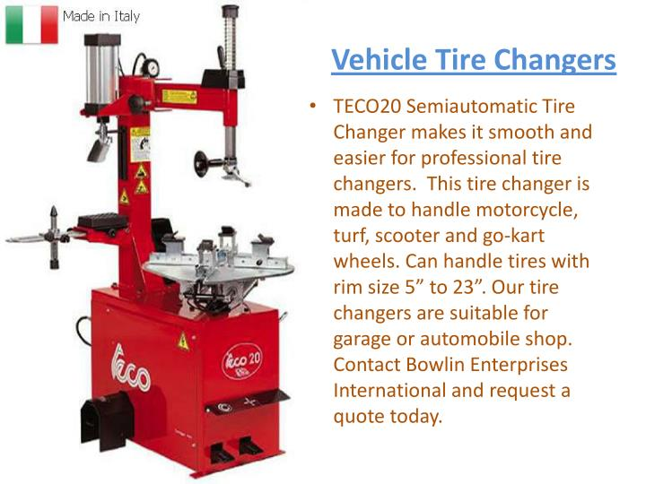 Vehicle Tire Changers