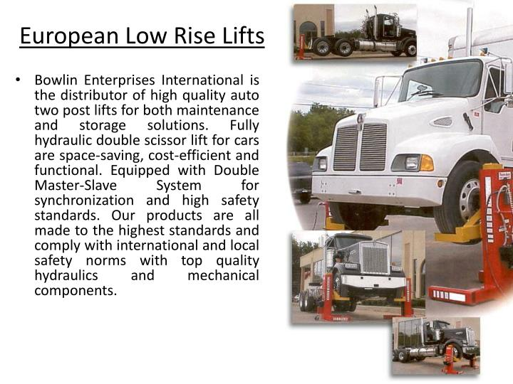 European Low Rise Lifts