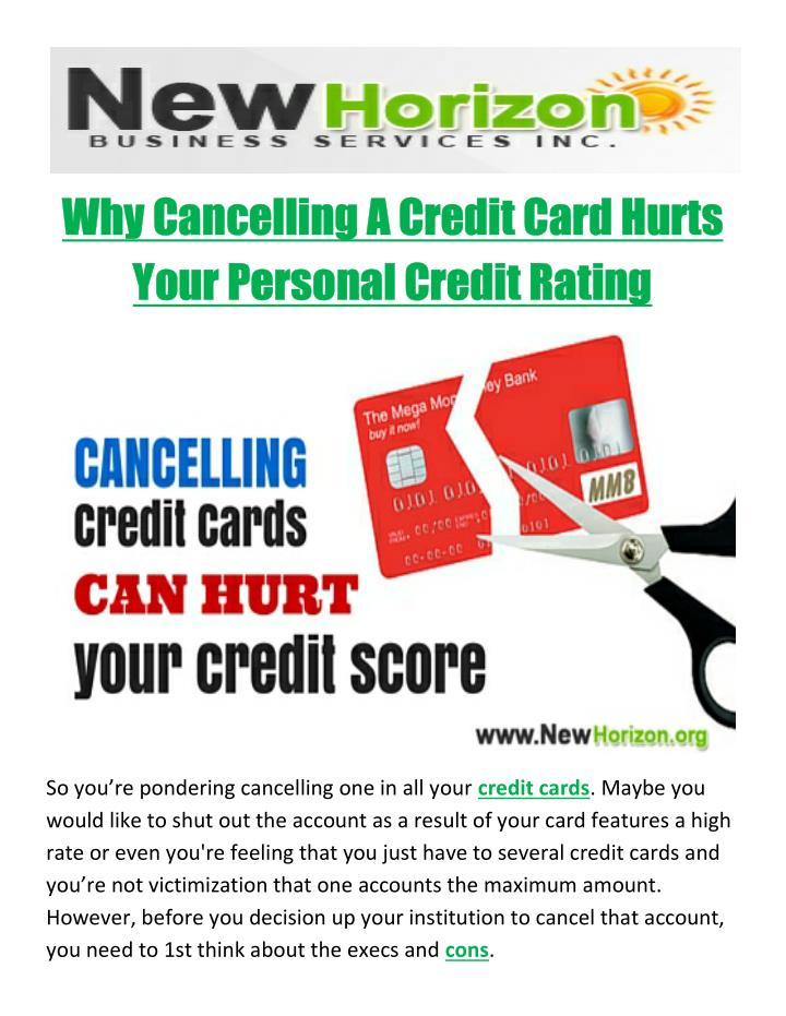 Why Cancelling A Credit Card Hurts
