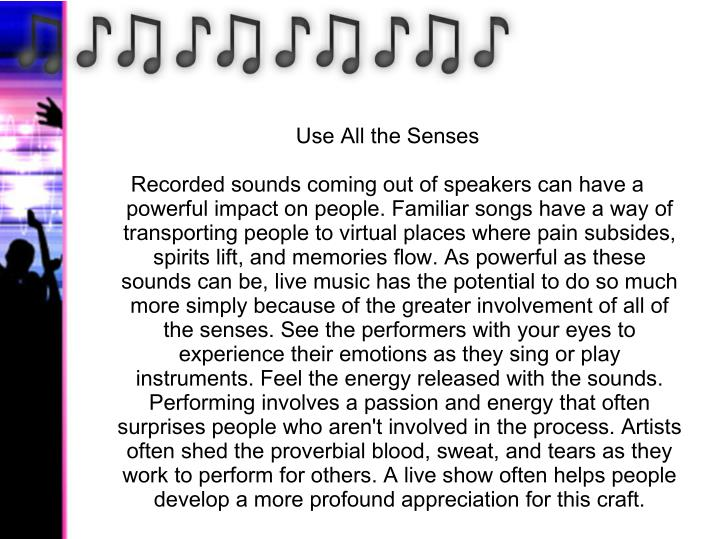 Use All the Senses