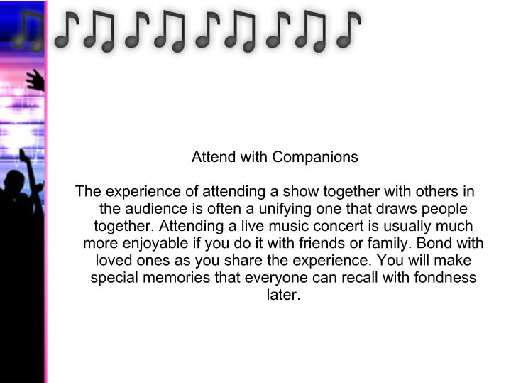 Attend with Companions