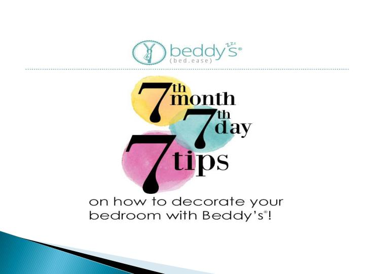 7th month 7th day 7 tips decorating with beddys