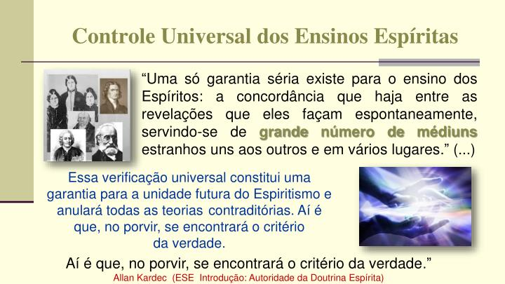 Controle Universal dos Ensinos Espíritas