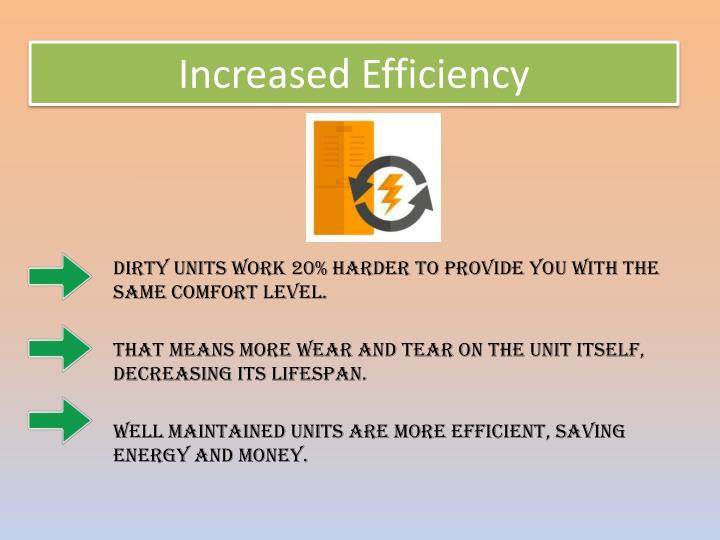 Increased Efficiency