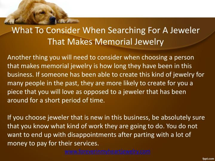 What To Consider When Searching For A Jeweler That Makes Memorial Jewelry