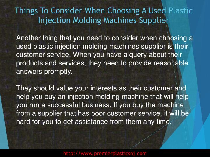 Things To Consider When Choosing A Used Plastic Injection Molding Machines Supplier