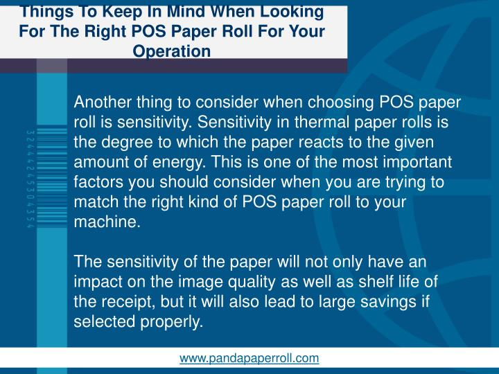 Things To Keep In Mind When Looking For The Right POS Paper Roll For Your Operation