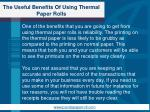the useful benefits of using thermal paper rolls2