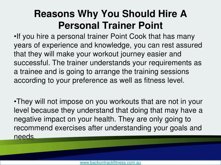 Reasons why you should hire a personal trainer point2