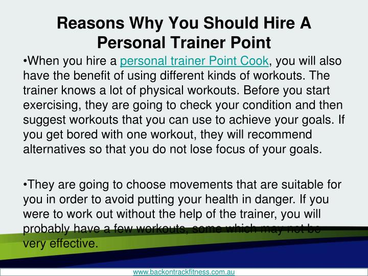 Reasons Why You Should Hire A Personal Trainer Point