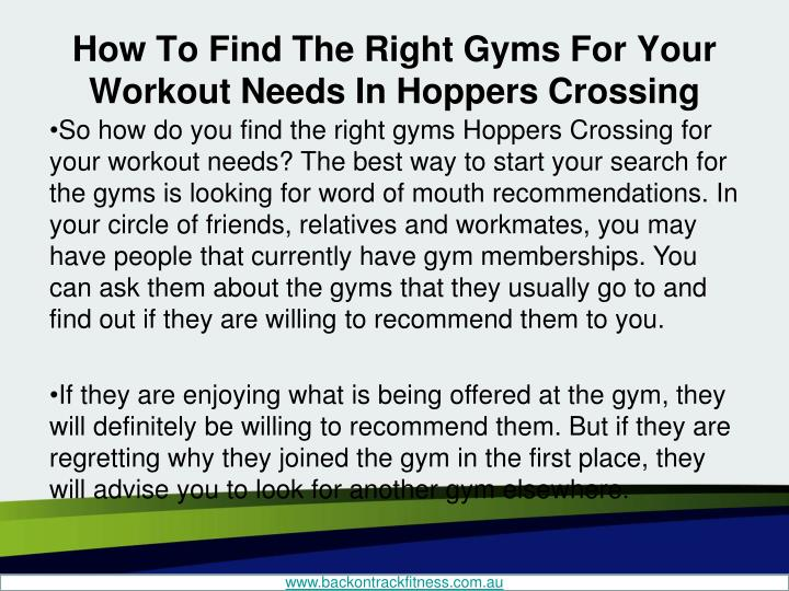 How to find the right gyms for your workout needs in hoppers crossing2