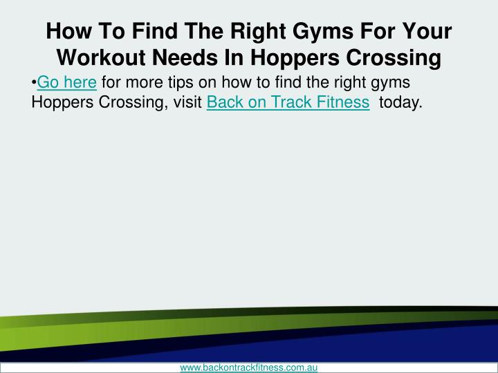 How To Find The Right Gyms For Your Workout Needs In Hoppers Crossing
