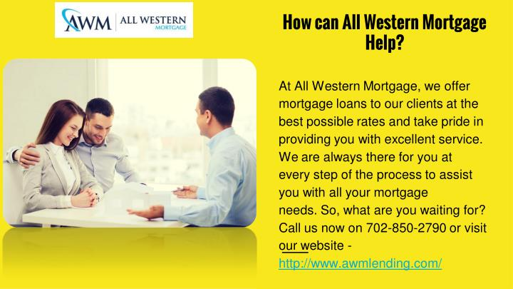 How can All Western Mortgage