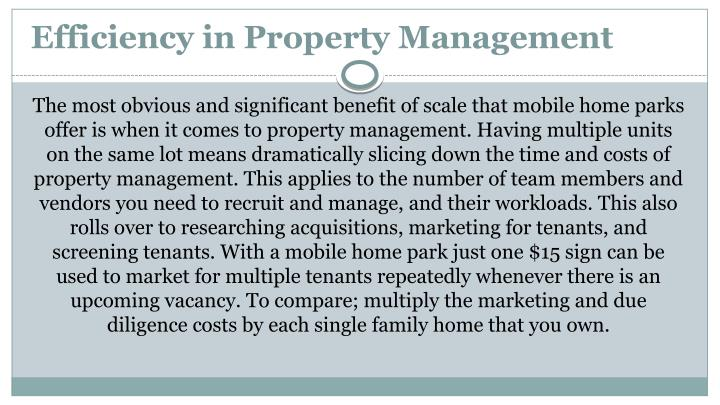 Efficiency in Property Management