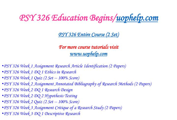 Psy 326 education begins uophelp com1