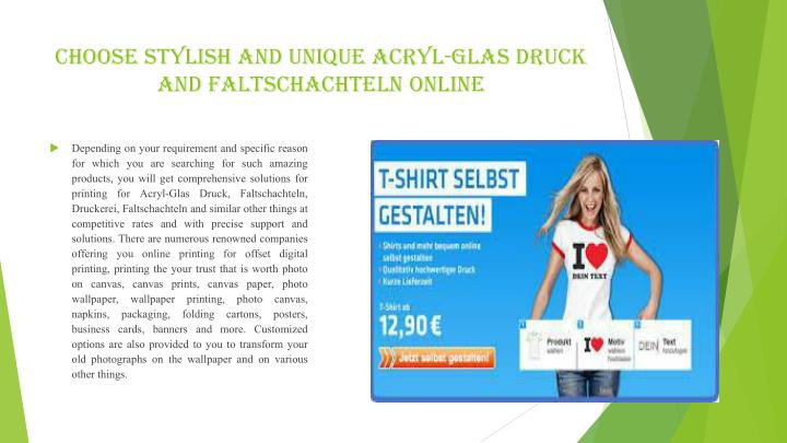Choose Stylish and Unique Acryl-Glas Druck