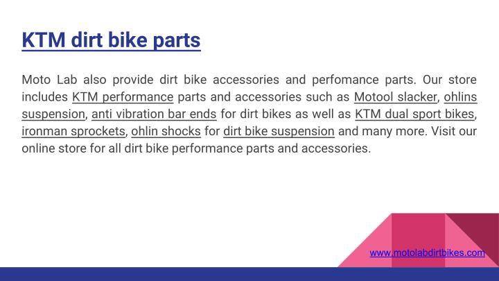 KTM dirt bike parts