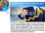 business advisers herts help you start with your enterprise