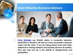 oster milambo business advisors