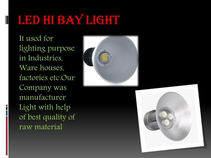 Led hi bay light