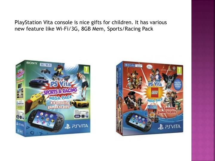 PlayStation Vita console is nice gifts for