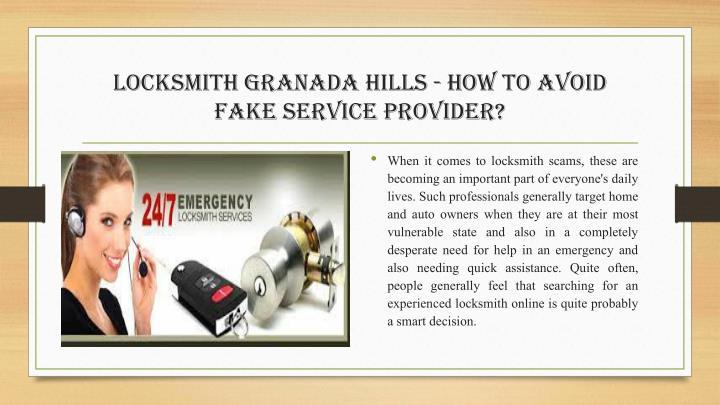 Locksmith Granada Hills - How to Avoid