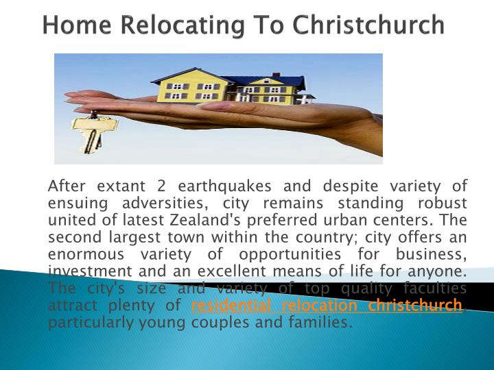 Home relocating to christchurch