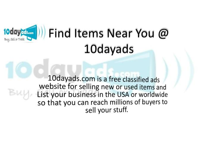 Find Items Near You @