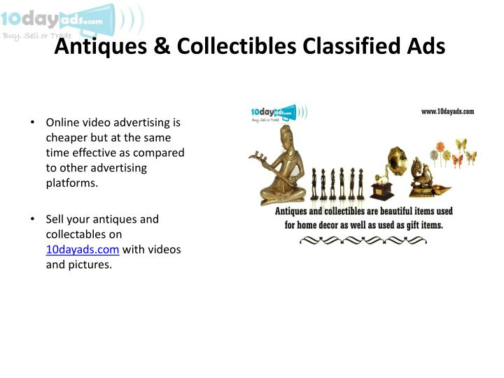 Antiques & Collectibles Classified Ads