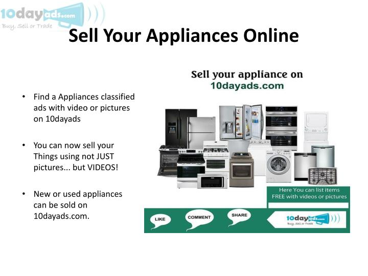 Sell Your Appliances Online