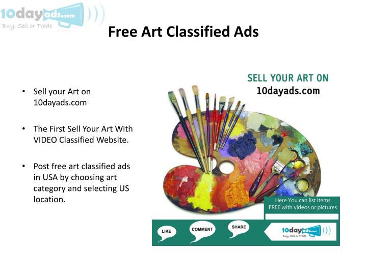 Free Art Classified Ads