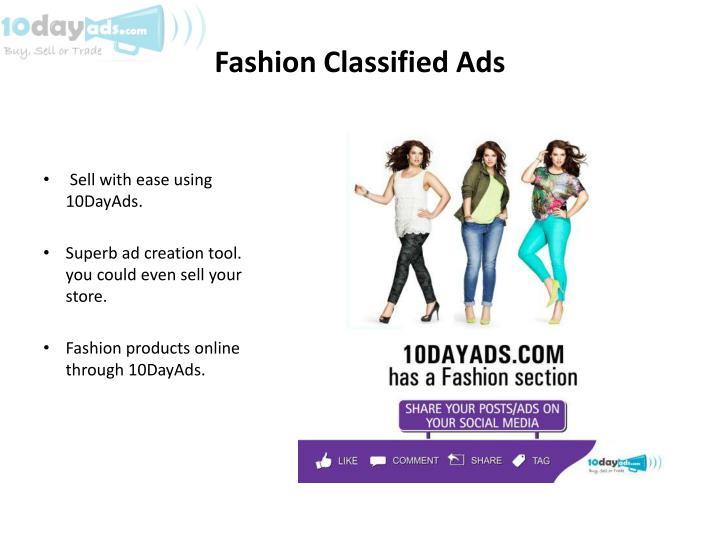 Fashion Classified Ads