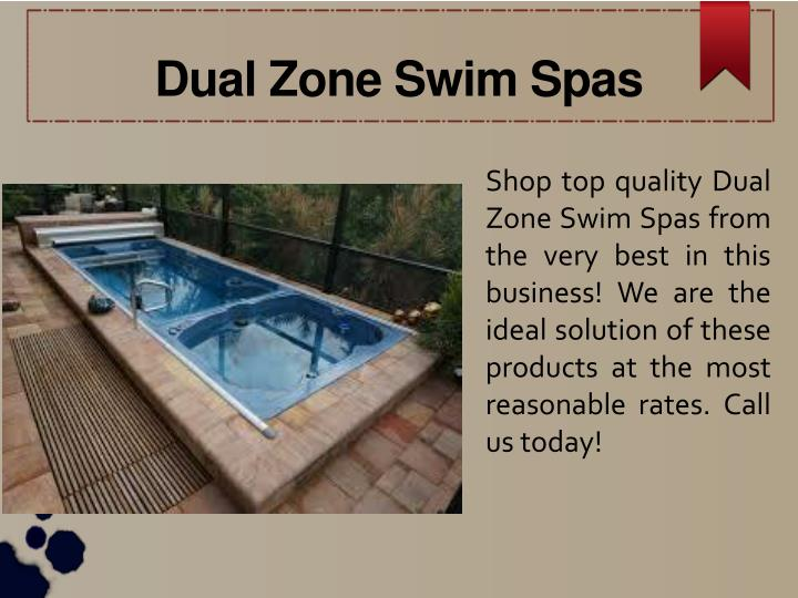 Dual Zone Swim Spas