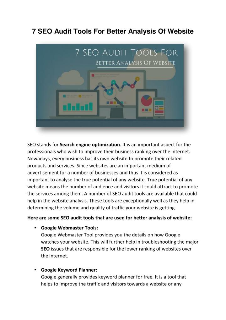 7 SEO Audit Tools For Better Analysis Of Website