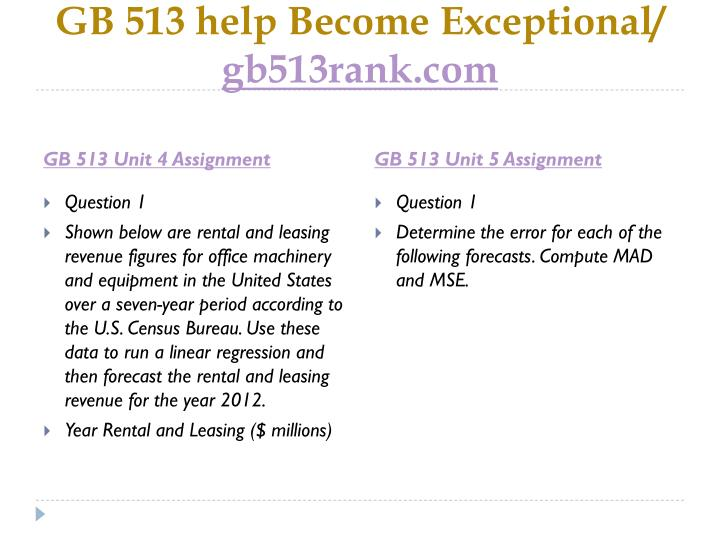 GB 513 help Become Exceptional