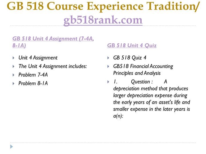 GB 518 Course