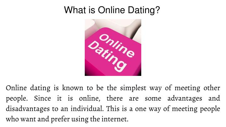 What is online dating