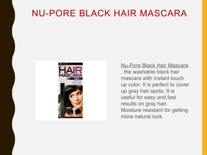 NU-PORE BLACK HAIR MASCARA