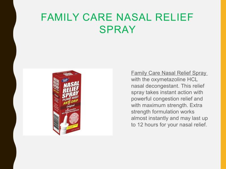 FAMILY CARE NASAL RELIEF