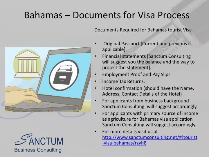 Bahamas – Documents for Visa Process