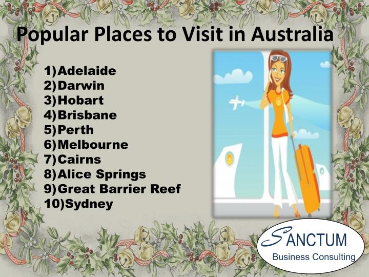 Popular Places to Visit in Australia