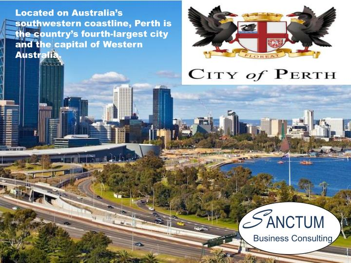 Located on Australia's southwestern coastline, Perth is the country's fourth-largest city and the capital of Western