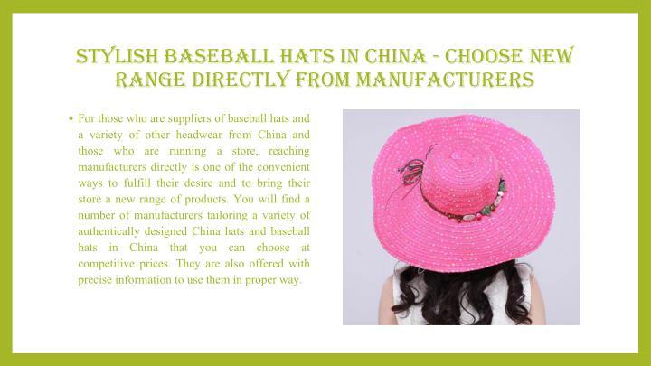 Stylish Baseball Hats in China - Choose New