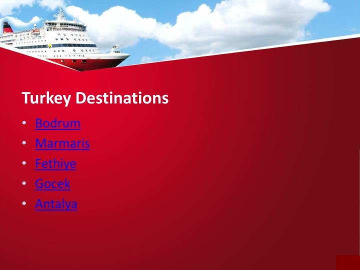 Turkey destinations