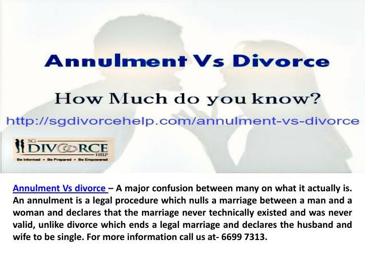 AnnulmentVs divorce