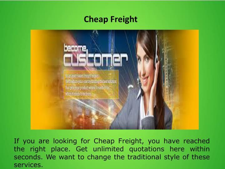 Cheap Freight